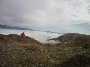 The run up the scree section - 52 Peaks