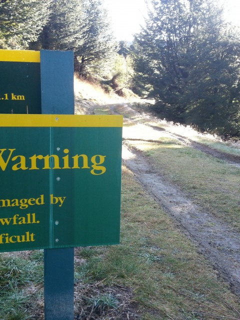 The warning sign...