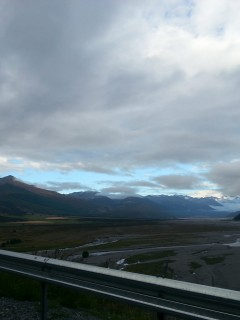 Triangular Mt Bruce from the Waimak Valley