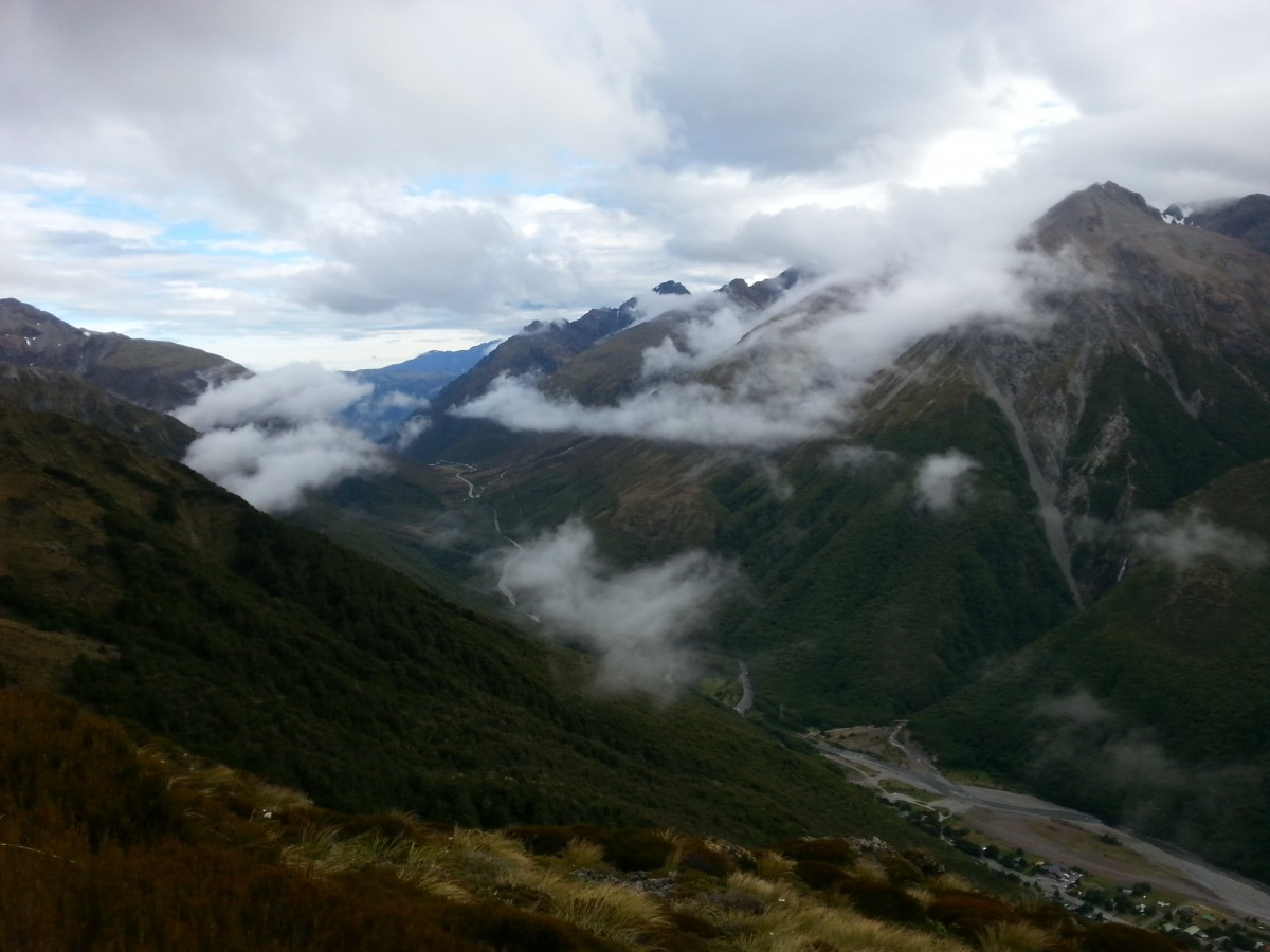 The view across to Mt Temple towards Otira