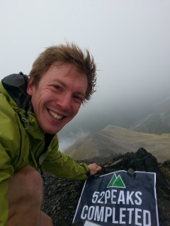 Posing for the 52nd and final summit photo of the year - no wonder I'm grinning