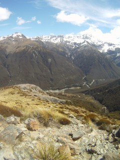 The view back down to Arthur's Pass