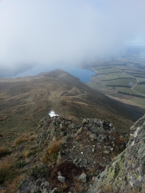 Looking down to Lake Coleridge