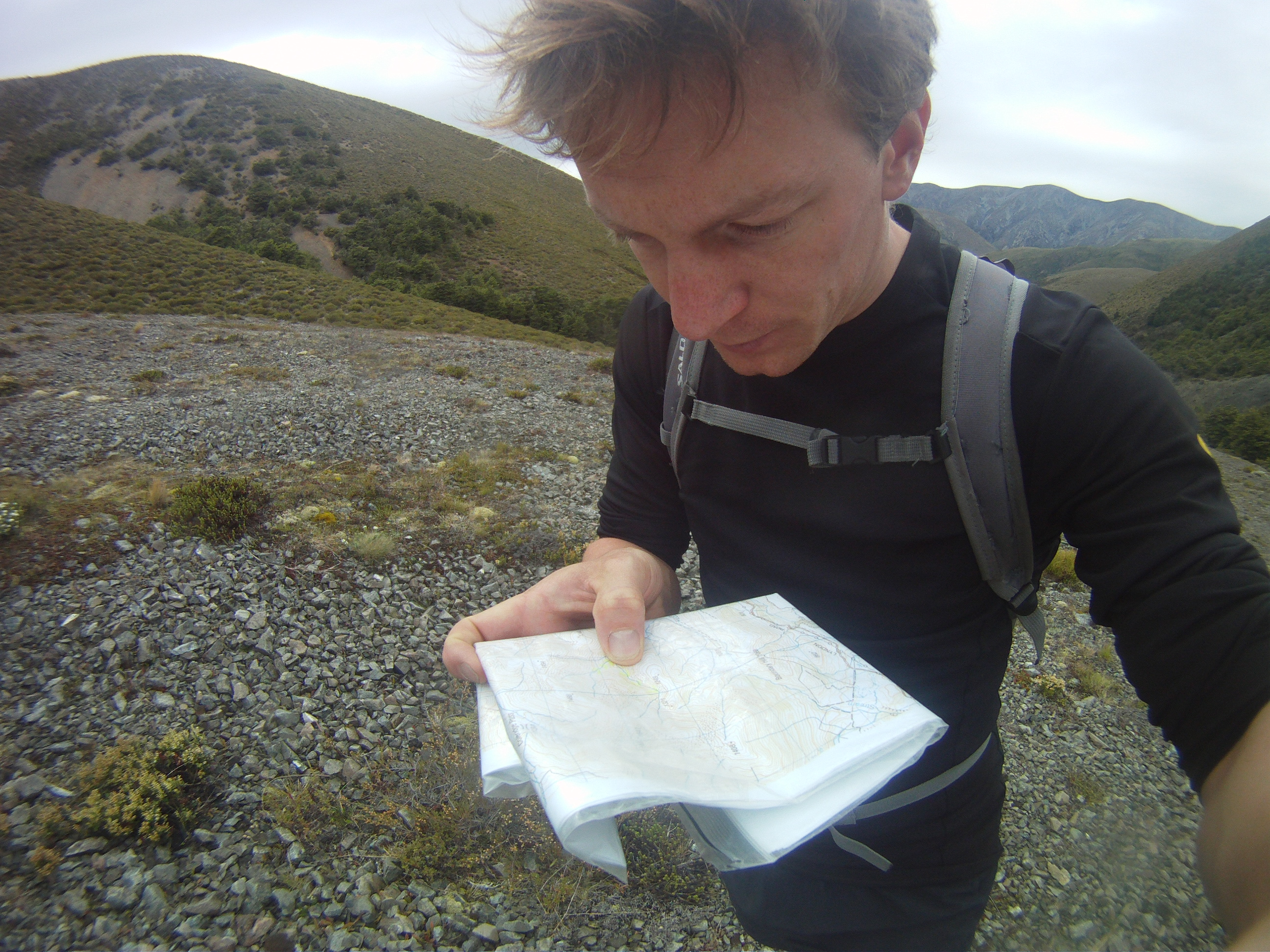 Checking the route through the scree