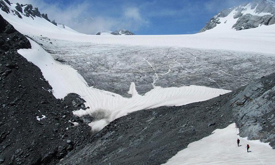 The Garden of Eden Ice Plateau, New Zealand.
