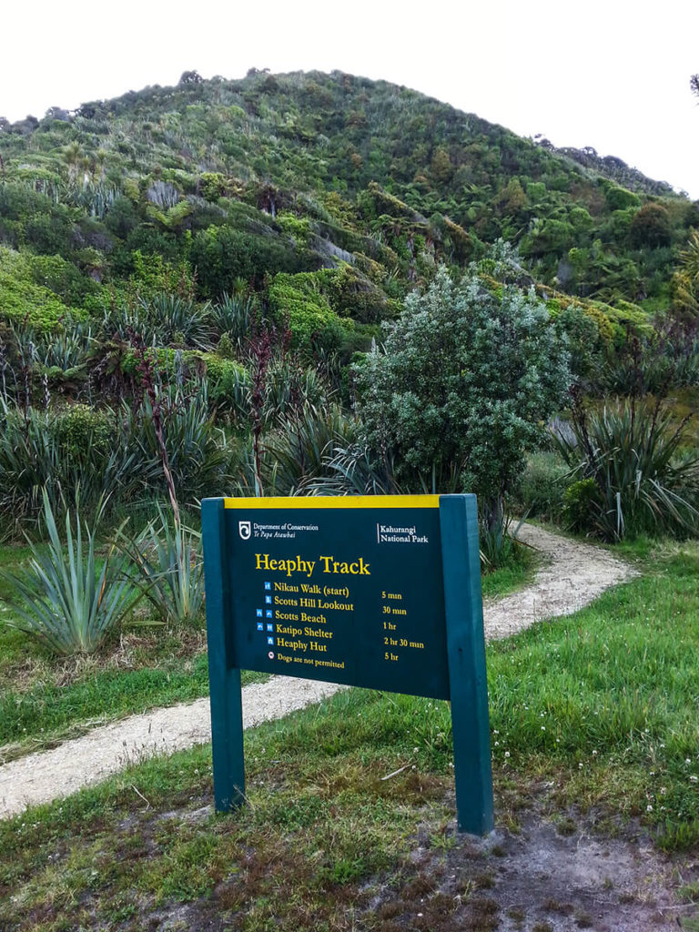 The Heaphy Track trailhead.