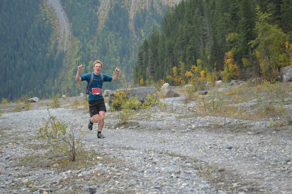 Putting on a brave face, trying not to die as I pass the 3/4 race mark. Photo: Beth Russell, facebook.com/mountrobsonmarathon