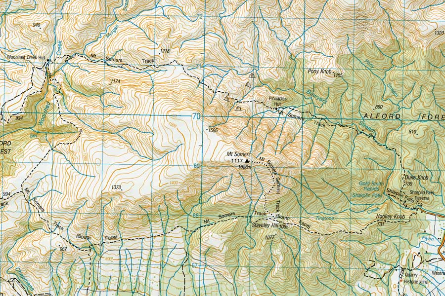 Map of Mt Somers